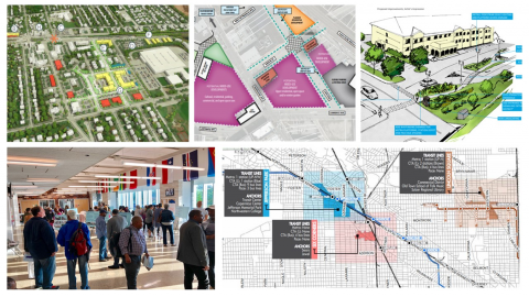 Mosaic of images about Community Planning
